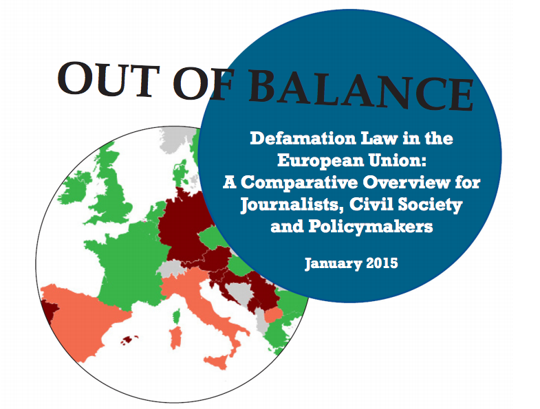 EU defamation laws fall dramatically short of international standards, IPI report indicates In vast majority of member states, defamation remains criminal offence punishable by imprisonment