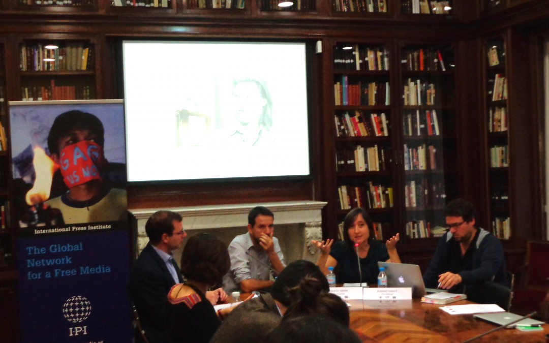 Spanish journalist: 'You have to accept the risks and cross your fingers' IPI seminar participants share experience with abuse of defamation laws
